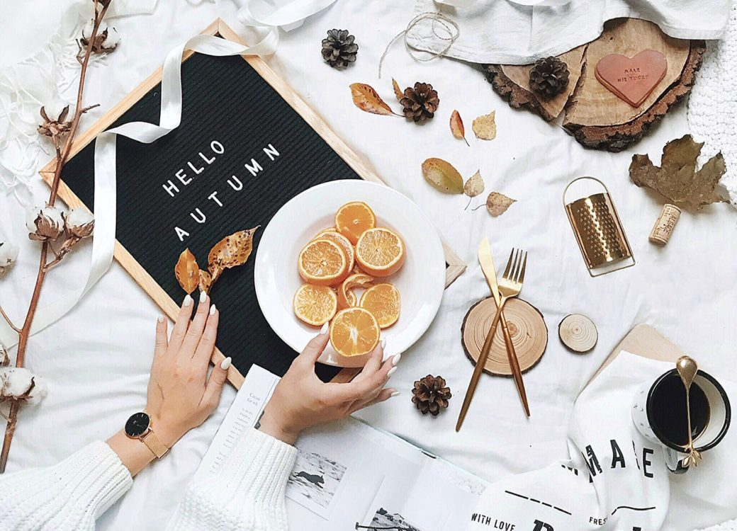 Hello autumn flat lay from juliawiszowata account